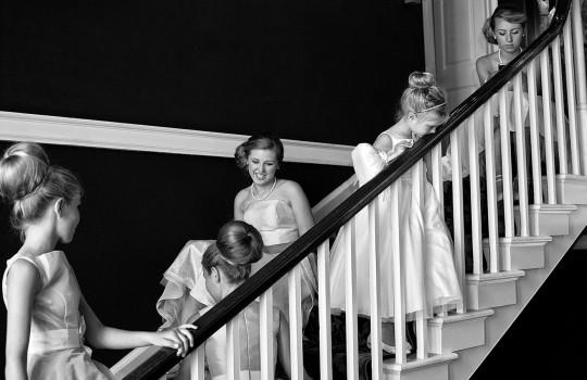 wedding photographer newcastle newton hall bridesmaids