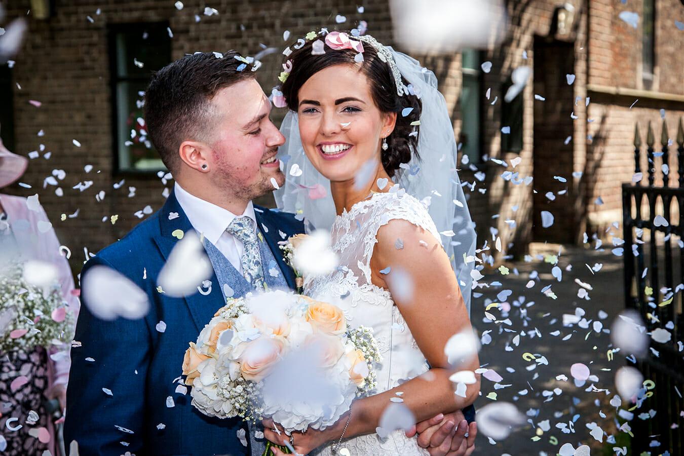 Wedding at Ramside bride and groom