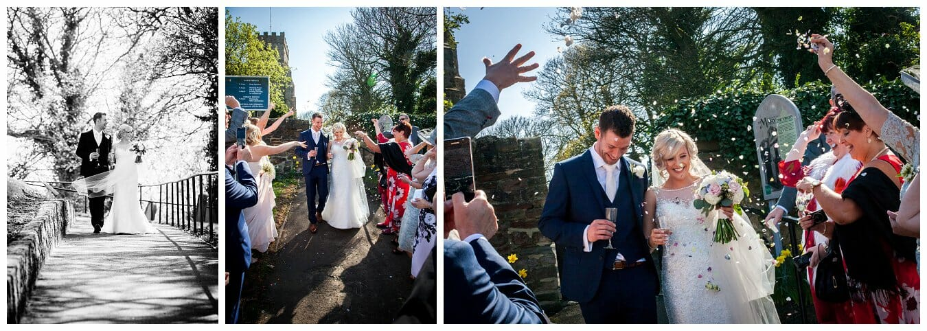 County durham wedding confetti