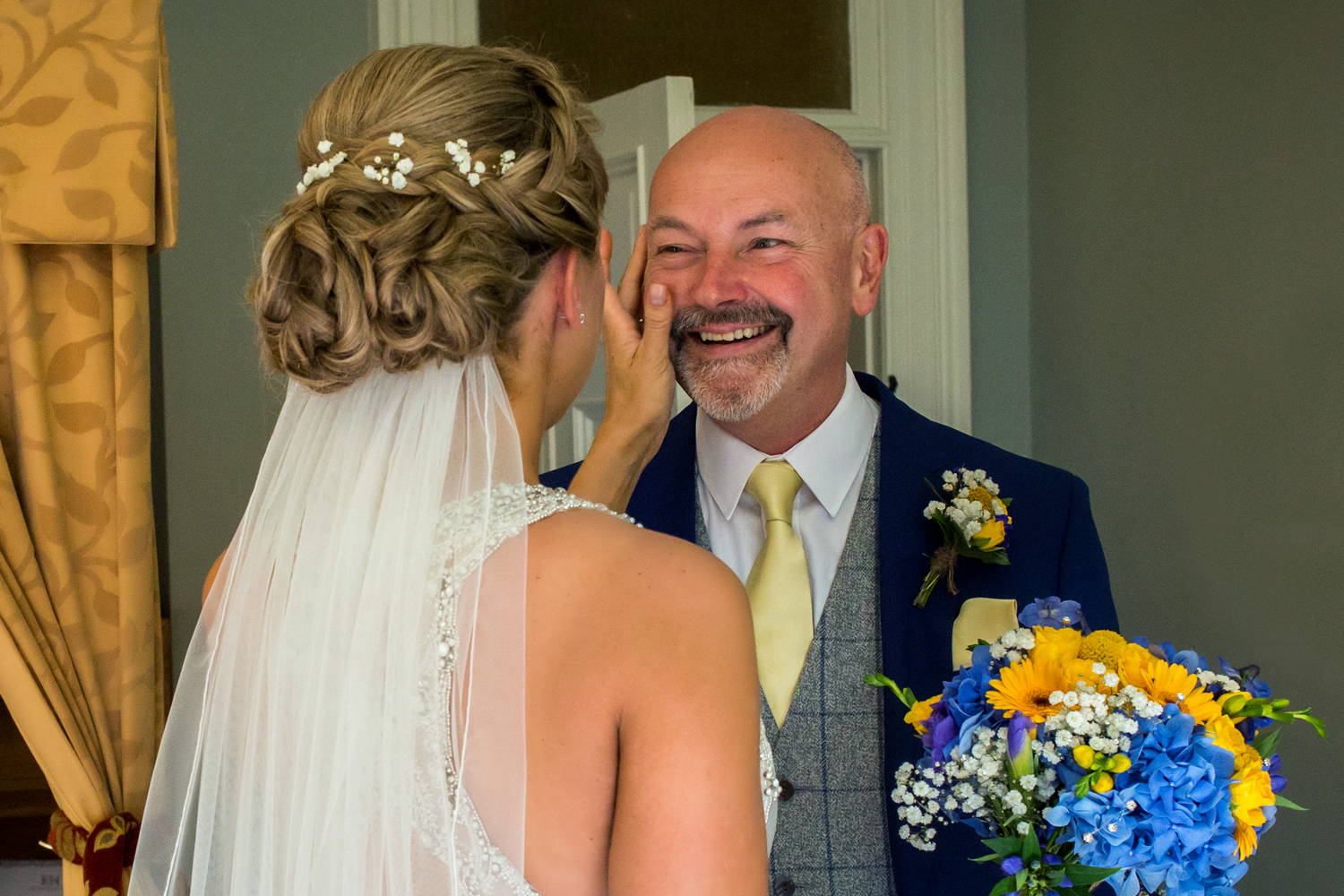 best father of bride reaction to bride