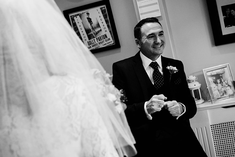 brides father reaction