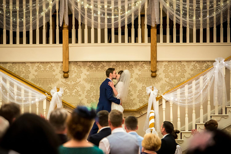 bride and groom at gisborough hall